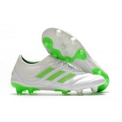 Scarpe calcio adidas Copa 19.1 FG da Adult -Bianco Verde Signal