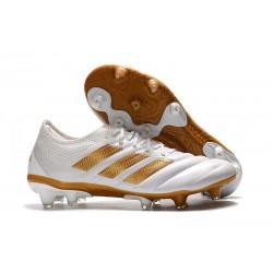 Scarpe calcio adidas Copa 19.1 FG da Adult -Bianco Oro Metallico