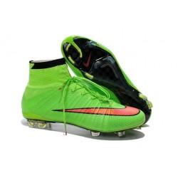 Scarpe da Calcio Nike Mercurial Superfly FG ACC Uomo Verde Rosso