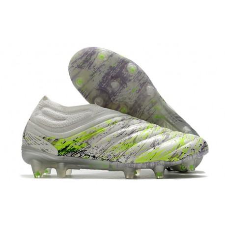 Adidas Scarpe Calcio Copa 20+ FG - Bianco Nero Core Verde Signal