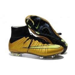 Nike Scrapa Calcio Mercurial Superfly Iv FG Tacchetti Oro Nero