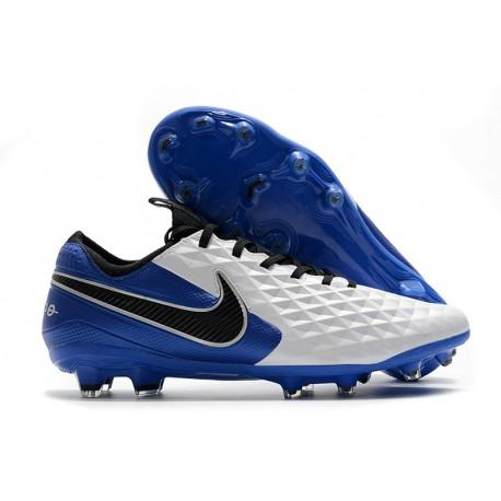 Scarpe Nike Tiempo Legend 8 Elite FG Bianco Blu Nero