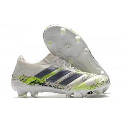adidas - Copa 20.1 FG Scarpe da Calcio Bianco Nero Core Verde Signal