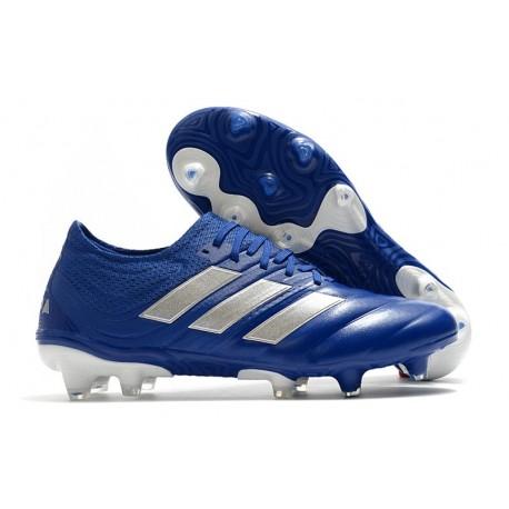 adidas - Copa 20.1 FG Scarpe da Calcio Blu Team Royal Argento Metallico