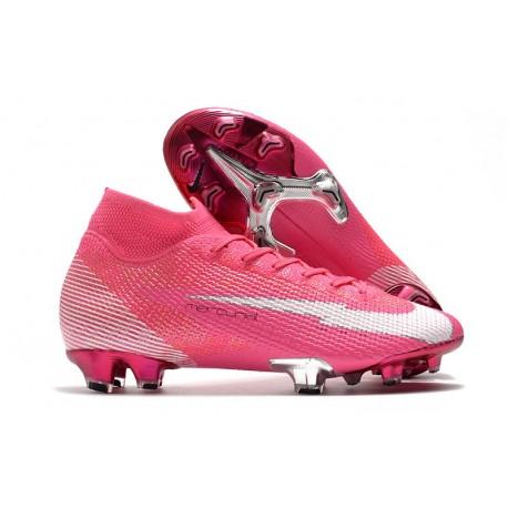 Nike Mercurial Superfly 7 Elite FG ACC x Mbappé Rosa Blast Bianco Nero