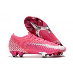 Scarpe Nike Mercurial Vapor 13 Elite FG x Mbappé Rosa Blast Bianco Nero