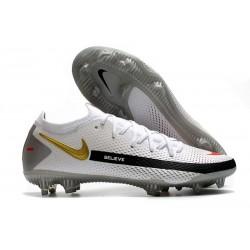 Nike Nuovo Scarpe da Calcio Phantom GT Elite FG Bianco Nero Rosso