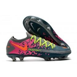 Nike Nuovo Scarpe da Calcio Phantom GT Elite FG Blu Grigio Rosa