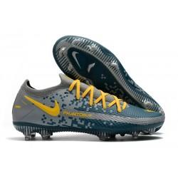Nike Nuovo Scarpe da Calcio Phantom GT Elite FG Blu Grigio Giallo