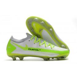 Nike Nuovo Scarpe da Calcio Phantom GT Elite FG Bianco Verde