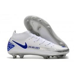 Nike Phantom GT Elite Dynamic Fit FG Bianco Blu