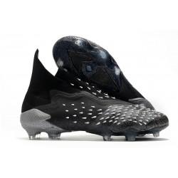 adidas Scarpa Predator Freak+ FG Nero Core Grigio 4 Bianco