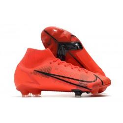 Scarpe Nike Mercurial Superfly 8 Elite DF FG Rosso Nero