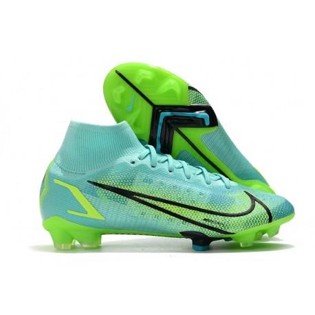 Scarpe Nike Mercurial Superfly 8 Elite FG Turchese Dinamico Lime Glow