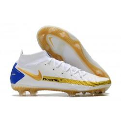Scarpa Calcio Nike Phantom GT Elite DF FG Bianco Oro Blu