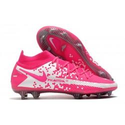 Scarpa Calcio Nike Phantom GT Elite DF FG Rosa Bianco