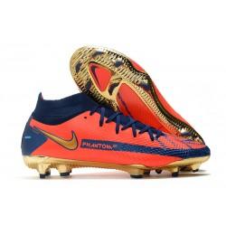Scarpa Calcio Nike Phantom GT Elite DF FG Arancio Blu Oro