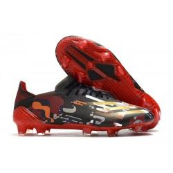 adidas X Ghosted.1 FG Scarpe Nero Rosso Oro