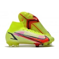 Scarpe Nike Mercurial Superfly 8 Elite DF FG Volt Cremisi Vivace Nero
