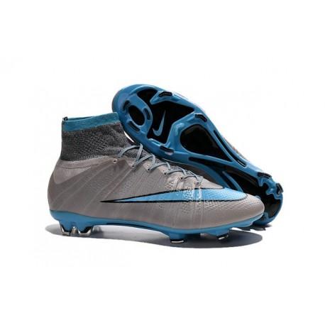 Scrape Nike Mercurial Superfly Iv FG Terreno Duro Grigio Blu