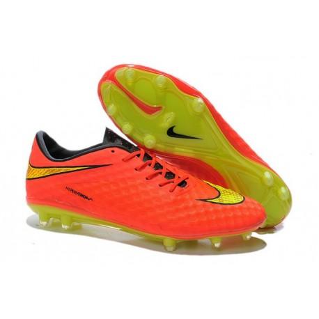 Nuove Scarpa Da Calcio Nike Hypervenom Phantom Fg ACC Arancio Oro