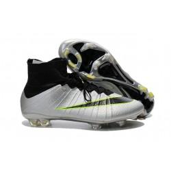 Nuovo 2015 Scrape Calcio Nike Mercurial Superfly FG Terreni Grigio Nero Verde