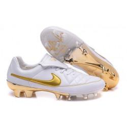 Scarpa da Calcio Nike Tiempo Legend R10 FG ACC Bianco Oro