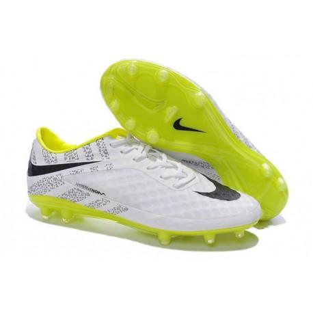 Nuove Scarpa Da Calcio Nike Hypervenom Phantom Fg ACC Rifrangenti Bianco Nero