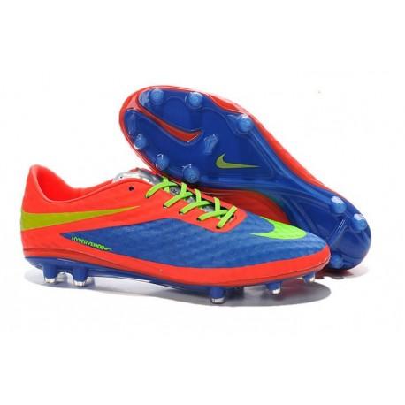 Nuove Scarpa Da Calcio Nike Hypervenom Phantom Fg ACC Viola Arancio Verde