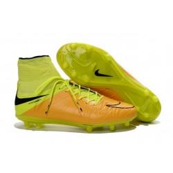 Scarpa Calcio Nike Hypervenom Phantom 2 Terreni Duri FG Leather Giallo Volt Nero