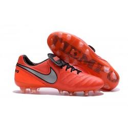 Nuovo Scarpe da Calcetto Nike Tiempo Legend 6 FG Uomo Arancio Bianco Nero