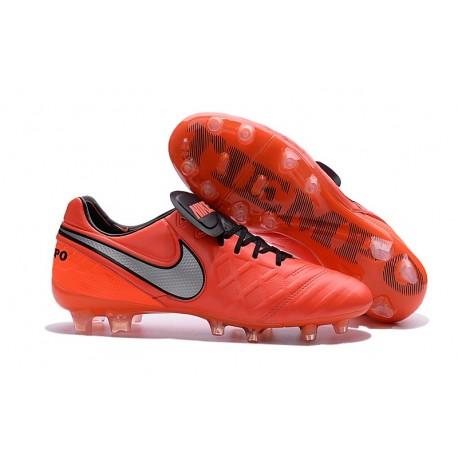separation shoes 50b35 132f0 Nuovo Scarpe da Calcetto Nike Tiempo Legend 6 FG Uomo Arancio Bianco Nero