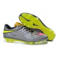 Nuove Scarpa Da Calcio Nike Hypervenom Phantom Fg ACC Grigio Rosa Giallo