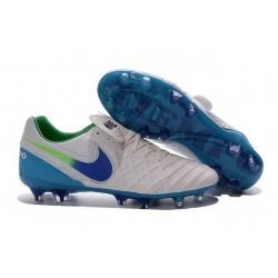 Nuovo Scarpe da Calcetto Nike Tiempo Legend 6 FG Uomo Bianco Blu