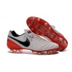 Nuovo Scarpe da Calcetto Nike Tiempo Legend 6 FG Uomo Bianco Rosso Nero