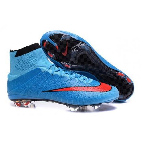 Calcio Superfly Nike Blu Acc Rosso Mercurial Da Ronaldo Scarpette Fg Cristiano deCBoWrx