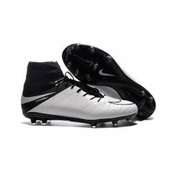 Nuovo 2016 Scarpe Calcio Nike Hypervenom Phantom II FG Pelle Bianco Nero