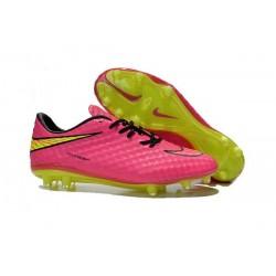 Neymar Scarpini Calcio Nike Hypervenom Phantom Premium Fg Rosa Giallo