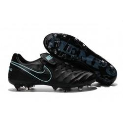 Scarpa Calcio Nuovi Nike Tiempo Legend VI FG Con Tacchetti Nero Blu