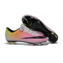 Nike Scarpette da Calcio Nuovo Mercurial Vapor X FG Bianco Nero Rosa