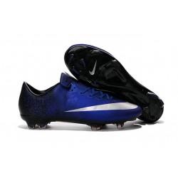 Nike Scarpette da Calcio Nuovo Mercurial Vapor X FG Blu Metallic