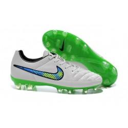 Nike Tiempo Legend V FG Scarpette da Calcio Bianco Verde