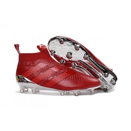 Fg Rosso Adidas Ace16Purecontrol Calcio Nuove Scarpe Argent Da rhQtds