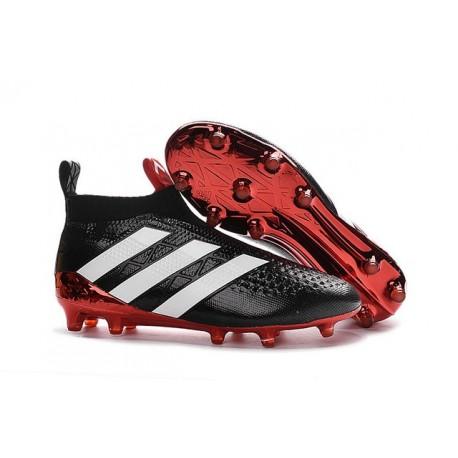 cerca l'autorizzazione bello e affascinante outlet Scarpe da Calcio Nuove adidas Ace16+ Purecontrol FG Nero Bianco Rosso