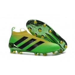 Scarpe da Calcio Nuove adidas Ace16+ Purecontrol FG Verde Nero