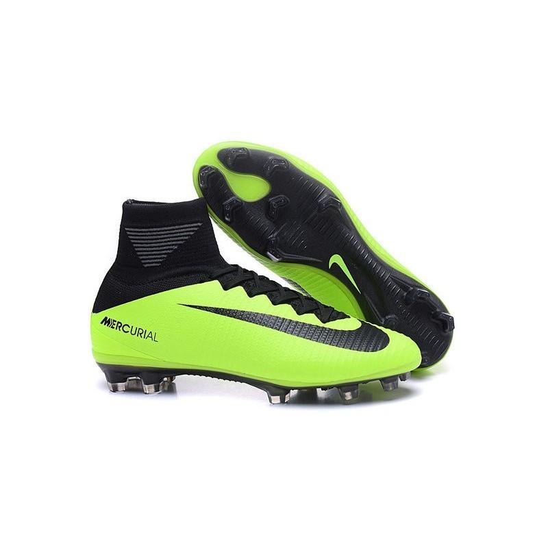 best sneakers 717b0 4610e Scarpa Cristiano Ronaldo Nike Mercurial Superfly V FG Verde Nero