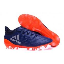 Scarpa da Calcio Nuovo 2016 Adidas X 16.1 FG Zaffiro Arancio