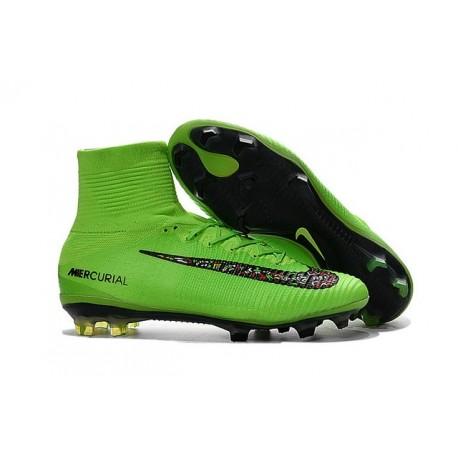 ce976bfe65213 Scarpini da Calcetto Nike Mercurial Superfly V FG ACC Verde Nero