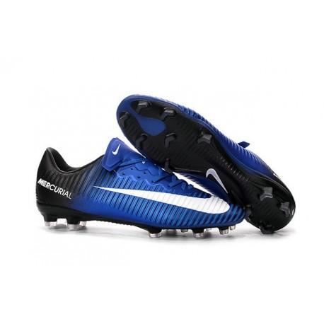f60e3afefee06 Nuovo Scarpa Calcetto Nike Mercurial Vapor 11 FG Blu Bianco Nero