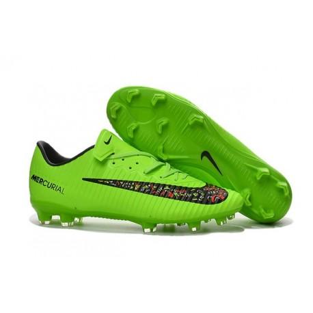 reputable site 855e2 b19e2 Nike Mercurial Vapor XI FG Nuove 2016 Scarpe da Calcio Verde Nero